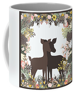 Shadowbox Deer Coffee Mug