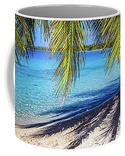 Shadows On The Beach, Takapoto, Tuamotu, French Polynesia Coffee Mug