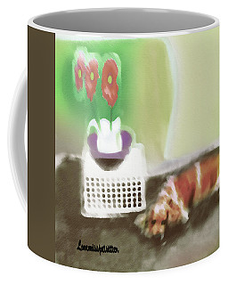 Shaggy And Flowers Painting Coffee Mug