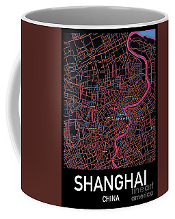 Shanghai City Map Coffee Mug