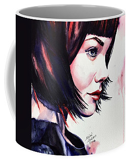 Coffee Mug featuring the painting She Knew by Michal Madison