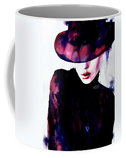 Coffee Mug featuring the painting She Remembered by Michal Madison