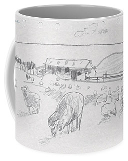 Sheep On Chatham Island, New Zealand Coffee Mug