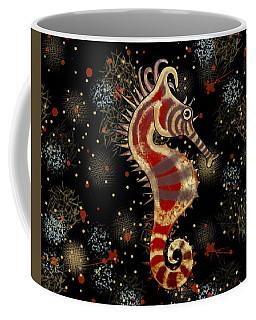 Shehorse Gold Burgundy Black Coffee Mug