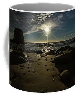 Coffee Mug featuring the photograph Shell Beach Sunburst by Mike Long