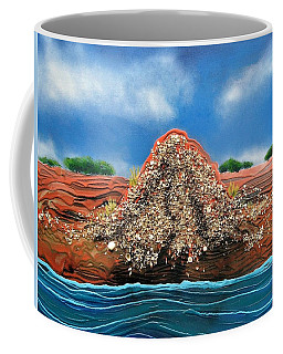 Coffee Mug featuring the painting Shell Mound by Joan Stratton