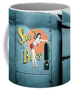 She's The Boss, World War 2 Navy Avenger Torpedo Bomber Coffee Mug