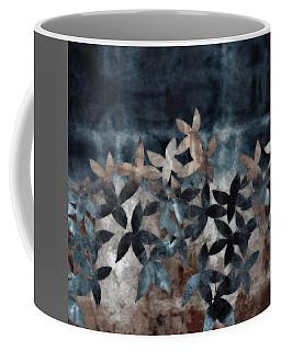 Shibori Leaves Indigo Print Coffee Mug