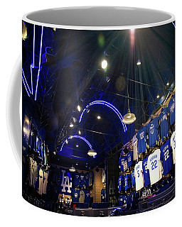 Coffee Mug featuring the photograph Shine On Dodger Blue by Lynn Bauer