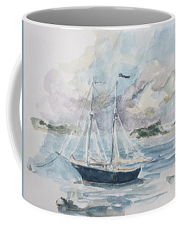 Ship Sketch Coffee Mug