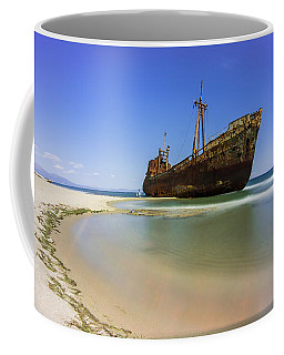 Shipwreck Dimitros Near Gythio, Greece Coffee Mug