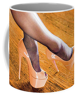 Coffee Mug featuring the photograph Shoes by Jim Lesher