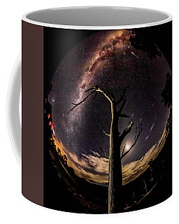 Coffee Mug featuring the photograph Shooting Stars And Milky Way by Chris Cousins
