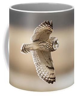 Short-eared Owl Flight Coffee Mug