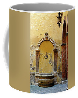 Sienna Fountain Courtyard Coffee Mug