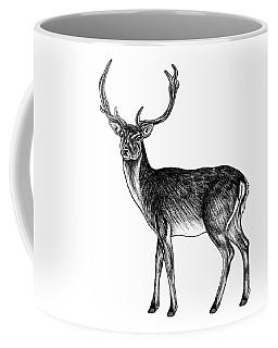 Sika Deer Stag - Ink Illustration Coffee Mug