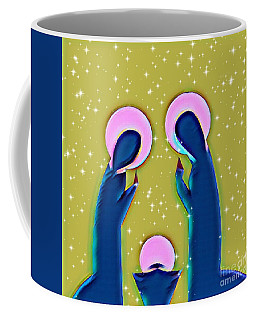 Coffee Mug featuring the mixed media Silent Night by Jessica Eli