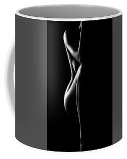 Silhouette Of Nude Woman In Bw Coffee Mug