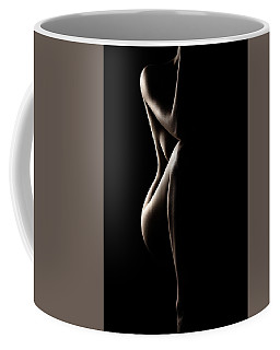 Silhouette Of Nude Woman Coffee Mug
