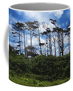 Silhouettes Of Wind Sculpted Krumholz Trees  Coffee Mug