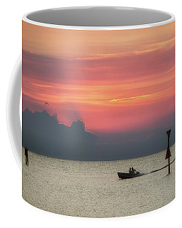 Coffee Mug featuring the photograph Silhouette's Sailing Into Sunset by Nathan Bush