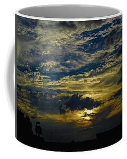 Silver, Blue And Gold Coffee Mug