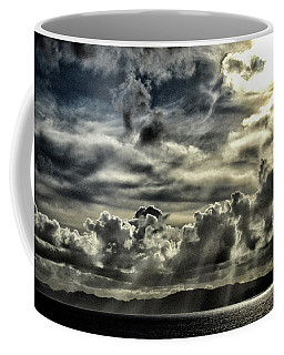 Coffee Mug featuring the photograph Silver Sun Over St. Lucia by Bill Swartwout Fine Art Photography