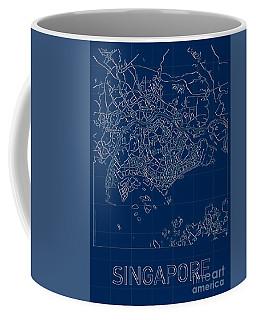 Singapore Blueprint City Map Coffee Mug