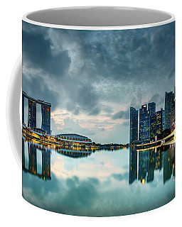 Coffee Mug featuring the photograph Singapore Lighst by Chris Cousins