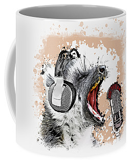 Singing Lemur Comic Art Coffee Mug