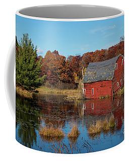 Sinking Red Barn In Fall Coffee Mug