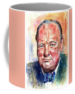 Sir Winston Churchill Portrait Coffee Mug