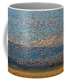 Skagit Snow Geese Storm Coffee Mug