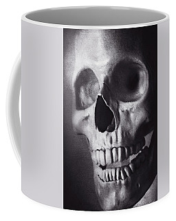 Coffee Mug featuring the photograph Skeleton Portrait In Black And White by Trina Ansel