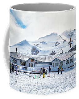 Coffee Mug featuring the photograph Ski Center On Top Of The Bayo Hill by Eduardo Jose Accorinti