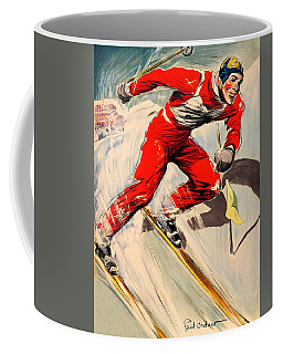 Skier On The Run Coffee Mug
