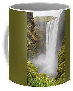 Coffee Mug featuring the photograph Skogafoss Iceland by Nathan Bush