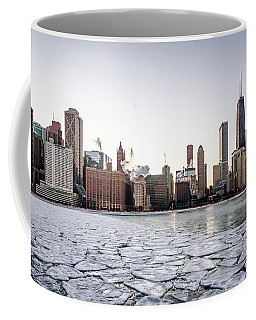 Skyline And Cracks In The Water Coffee Mug