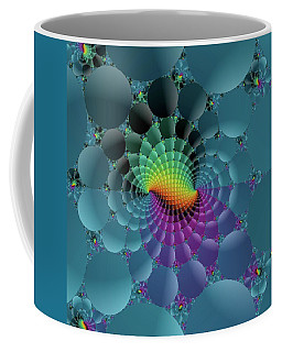 Slate Blue Fractal Coffee Mug