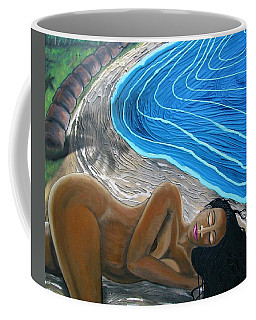 Coffee Mug featuring the painting Sleeping Nude by Joan Stratton