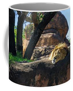 Sleepy Lion Coffee Mug