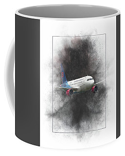 Slovak Government Flying Service Airbus A319-115 Painting Coffee Mug