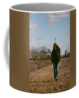 Coffee Mug featuring the photograph Small Town Girl by Carl Young