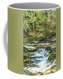 Small Waterfall In Creek And Stone Stairs Coffee Mug