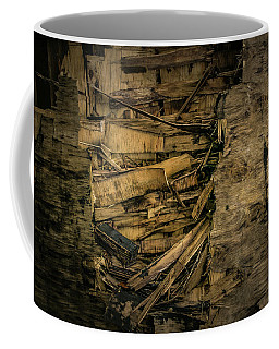 Smashed Wooden Wall Coffee Mug