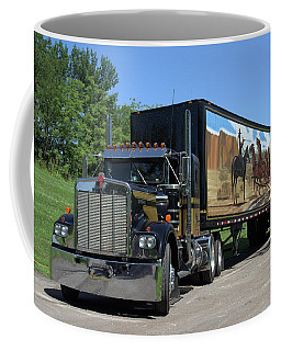 Smokey And The Bandit Tribute Kenworth W900 Black And Gold Semi Truck Coffee Mug
