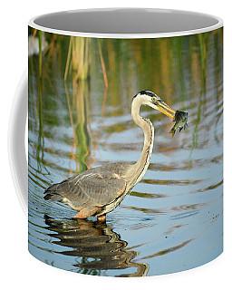 Snack Time For Blue Heron Coffee Mug