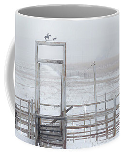Coffee Mug featuring the photograph Snow And Corral 01 by Rob Graham