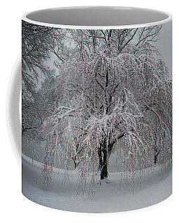 Snow And Mist By The River Coffee Mug