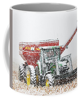 Coffee Mug featuring the photograph Snow And Tractor 02 by Rob Graham